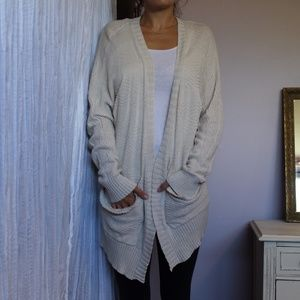 Urban Outfitters cream cardigan sweater